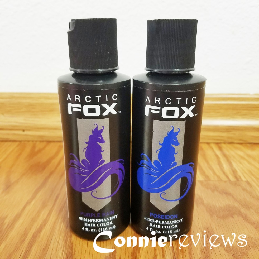 Arctic Fox Hair Dye Purple Rain and Poseidon