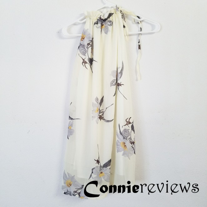 Floral Print Halter Chiffon Dress
