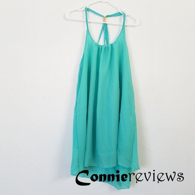 Open Back Spaghetti Strap Chiffon Dress