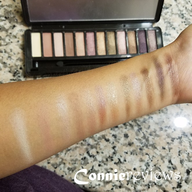S.he cosmetics natural eyeshadow palette Swatches