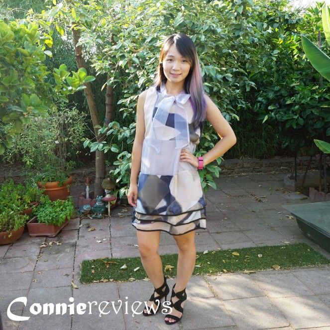 Sleeveless Printed A-line Dress
