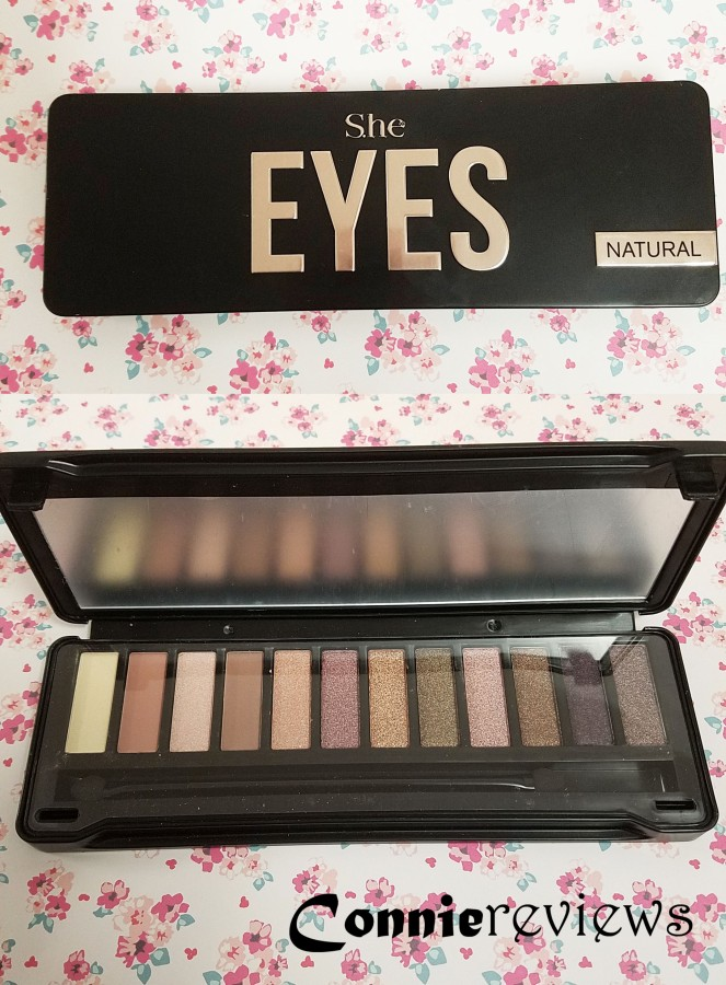 S.he cosmetics natural eyeshadow palette
