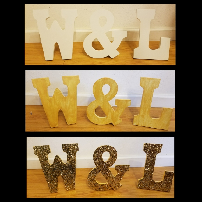 Wedding Glitter Letters DIY