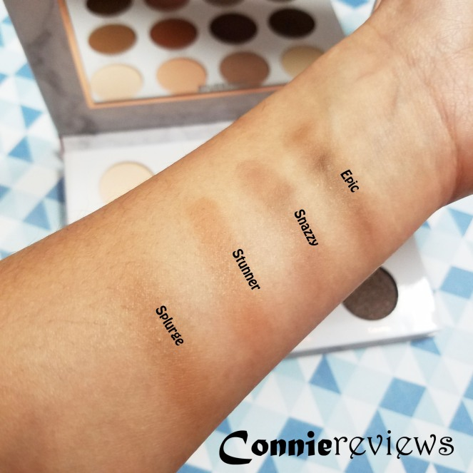 Soiree Diaries Eyeshadow Palette Swatches